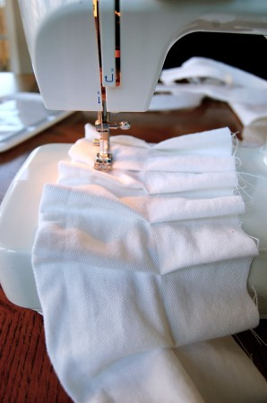 sewing a knife pleated skirt