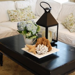 how to decorate a coffee table for real people
