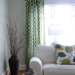 no sew table cloth drapes lined