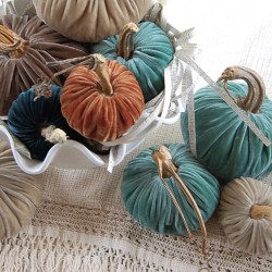 plush pumpkins from love feast table