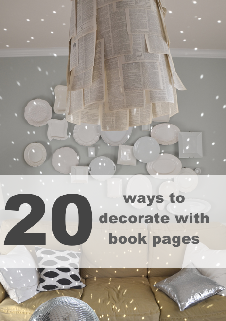how to decorate with book pages #diy #books