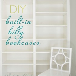 DIY Built-In Ikea Billy Bookcases