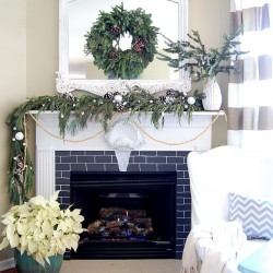 Easy Christmas Mantle Mantel