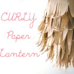 curly paper lantern
