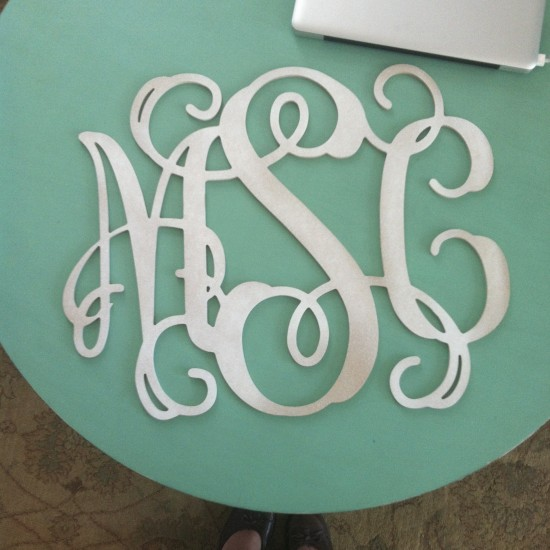 Monograms & Happy Accidents