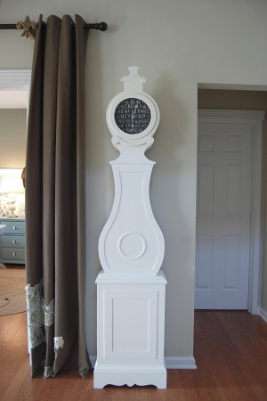 grandfather clock makeover