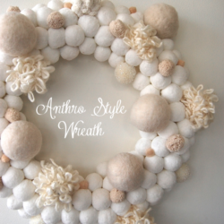diy pom pom snowball wreath