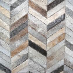 herringbone cowhide rug