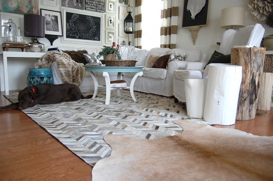 Layering Cowhide Rugs In Your Interior Design