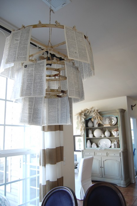 book page pendant light
