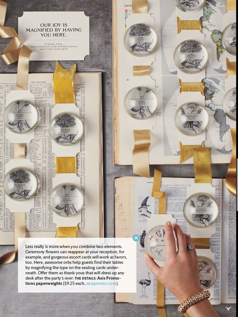 magnifying paper weights
