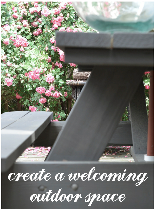 create an outdoor space