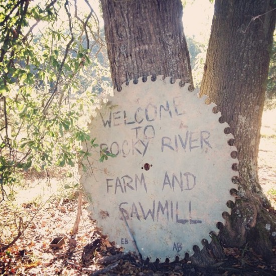 saw mill sign