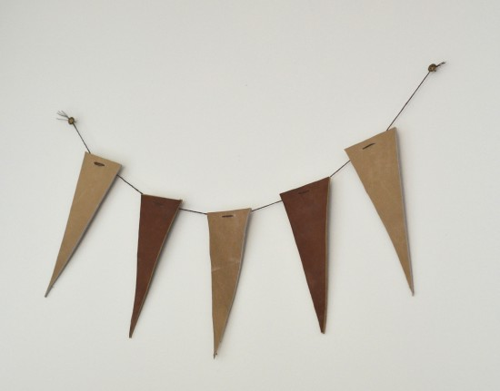 leather pennant bunting