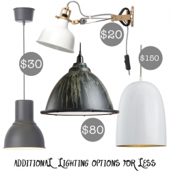 inexpensive kitchen lighting