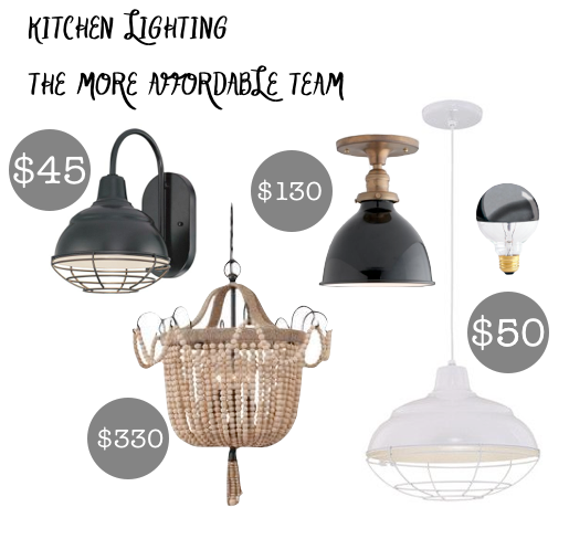 kitchen lighiting ideas rustic modern farmhouse