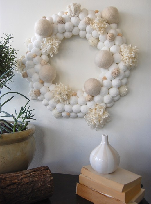 DIY pom wreath
