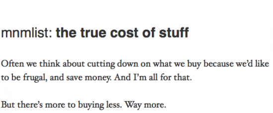 true cost of stuff