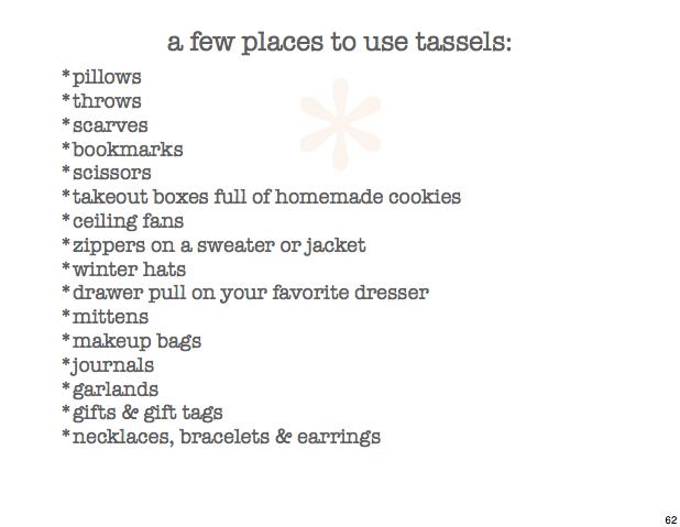 tassel 62