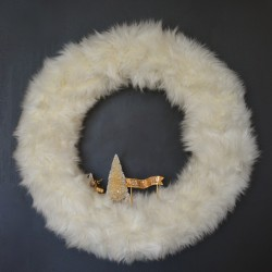 fur wreath