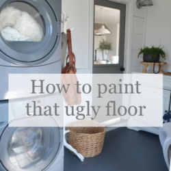 how to paint a floor