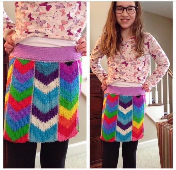 rainbow loom skirt