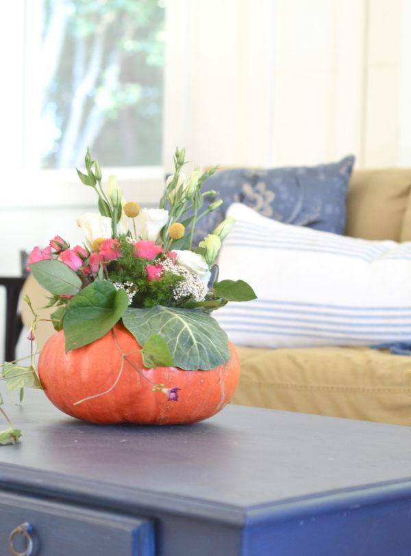 diy easy pumpkin centerpiece
