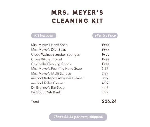 mrs. meyers deal
