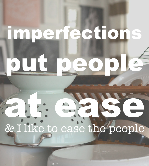 imperfections put people at ease